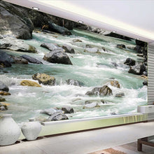 Load image into Gallery viewer, Custom Mural Wall Paper 3D HD River Stone Bedroom Bathroom Floor Sticker Waterproof PVC Self-adhesive Wallpaper Wall Painting - WallpaperUniversity