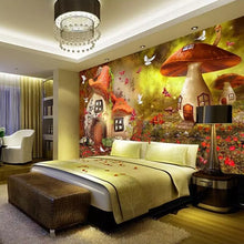 Load image into Gallery viewer, Custom 3D Photo Wallpaper Mushroom House Children Room Bedroom Decoration Poster Non-woven Print Wallpaper Mural Papel De Parede - WallpaperUniversity
