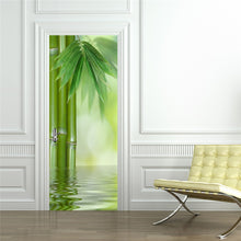 Load image into Gallery viewer, Green Bamboo Forest Leaf 3D Photo Wallpaper Home Decor Modern Living Room Bedroom Door Sticker PVC Mural Self-adhesive Wallpaper - WallpaperUniversity