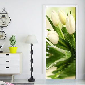 Modern 3D Photo Wallpaper For Walls Roll Tulips Flower Living Room Bedroom Door Decoration Mural Sticker Wall Paper Flowers PVC - WallpaperUniversity