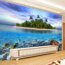 Load image into Gallery viewer, Custom 3D Photo Mural Wallpaper Seaside Scenery Non-woven Living Room TV Background Decor Modern Wall Painting Papel De Parede - WallpaperUniversity