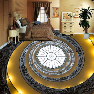 Custom Photo Wall Paper 3D Spiral Staircase Living Room Bedroom Floor Sticker 3D PVC Mural Self-adhesive Non-slip Wallpaper - WallpaperUniversity