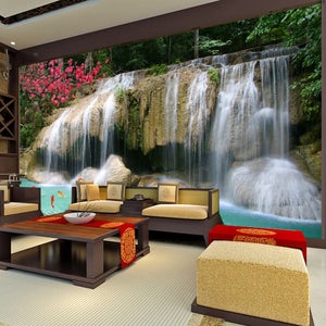 Custom Mural Wallpaper 3D Non-woven Waterfall Landscape Wall Decorations Living Room Kitchen Pictures Modern Wallpaper For Walls - WallpaperUniversity