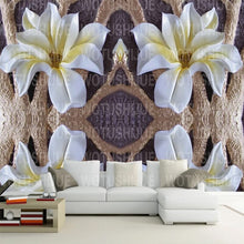 Load image into Gallery viewer, Custom Mural Wallpaper 3D Embossed Flower Mural Living Room Bedroom TV Background Wall Decoration Painting Modern Wall Paper - WallpaperUniversity