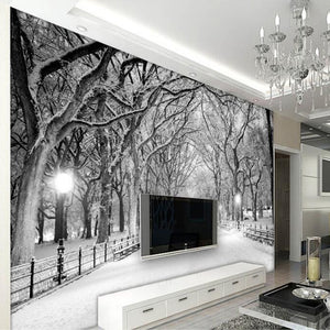 Custom Any Size 3D Mural Wallpaper Tree Forest Road Living Room Bedroom TV Background Wall Painting Wallpaper Papel De Parede 3D - WallpaperUniversity