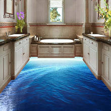 Load image into Gallery viewer, Custom Flooring 3D Mural Wallpaper Sea Scenery Bathroom Living Room Floor Sticker Mural PVC Self-adhesive Waterproof Wall Paper - WallpaperUniversity
