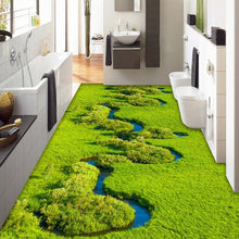Load image into Gallery viewer, Custom Any Size 3D Floor Mural Wallpaper PVC Waterproof Self-adhesive Floor Sticker Living Room Bedroom Bathroom Floor Wallpaper - WallpaperUniversity