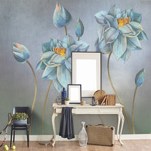 Load image into Gallery viewer, Hand-painted Oil Painting Flower Retro Nordic Minimalist Living Room Sofa Background Wall Home Decoration Wallpaper Custom Mural - WallpaperUniversity