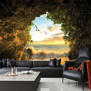 Custom 3D Photo Wallpaper Cave Nature Landscape TV Background Wall Mural Wallpaper For Living Room Bedroom Backdrop Art Decor - WallpaperUniversity