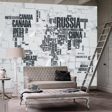 Load image into Gallery viewer, Custom Mural Wallpaper 3D Stereoscopic Brick Wall World Map Living Room Office Backdrop Home Decoration Art Wall Paper Murals - WallpaperUniversity