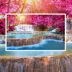 Custom 3D Photo Wallpaper Romantic Natural Landscape Waterfall Wall Painting Living Room Sofa TV Background Decor Wall Covering - WallpaperUniversity