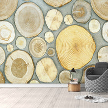 Load image into Gallery viewer, Nordic Style Creative Art Mural Wall Paper 3D Stereoscopic Wood Grain Annual Rings Fashion Background Decoration Wall Painting - WallpaperUniversity