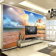 Load image into Gallery viewer, Custom Photo Mural Wallpaper 3D HD Beautiful Sky Beach Waves Landscape Mural Living Room Bedroom Background Wall Painting Decor - WallpaperUniversity