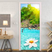 Load image into Gallery viewer, Sunshine Mountain Water Natural Scenery 3D Wall Painting Living Room Bedroom Door Sticker PVC Mural Photo Wallpaper Waterproof - WallpaperUniversity