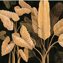 Load image into Gallery viewer, Custom 3D Mural Southeast Asia Style Banana Leaf Background Wall Golden Leaves Wallpaper Sofa Living Room Background Wall Paper - WallpaperUniversity
