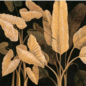 Custom 3D Mural Southeast Asia Style Banana Leaf Background Wall Golden Leaves Wallpaper Sofa Living Room Background Wall Paper - WallpaperUniversity