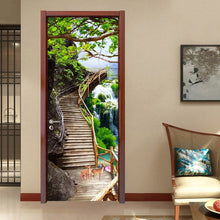 Load image into Gallery viewer, 3D Door Wallpaper Waterfall Nature Landscape Door Sticker Photo Wall Mural De Parede 3D PVC Self Adhesive Waterproof Home Decor - vouswall.com