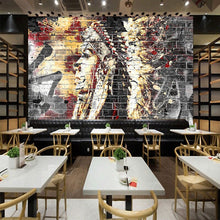 Load image into Gallery viewer, Custom Wallpaper Murals 3D Graffiti Art Wood Grain Brick Wall Mural Retro Characteristic Cafe Restaurant Wall Covering Wallpaper - WallpaperUniversity