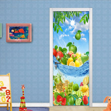 Load image into Gallery viewer, Fresh Fruit Modern 3D Living Room Kitchen Bedroom Door Sticker Mural PVC Self-adhesive Photo Mural Door Wallpaper Home Decor - WallpaperUniversity