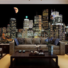 Load image into Gallery viewer, High Quality Wall Painting Custom 3D Photo Wallpaper For Living Room TV Background Mural Wallpaper For Bedroom Walls City Night - WallpaperUniversity