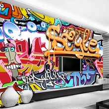 Load image into Gallery viewer, Custom Photo Wallpaper Non-woven 3D Abstract Graffiti Art Large Wall Painting Living Room Bar TV Background Wall Mural Wallpaper - WallpaperUniversity