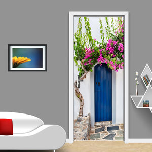 PVC Waterproof Self-adhesive Door Sticker Wall Papers Home Decor Natural Landscape Large Murals Door Mural 3D Wallpaper Roll - WallpaperUniversity