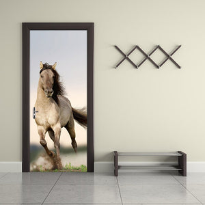 Pentium Horse Living Room Bedroom Door Mural Wallpaper Sticker PVC Self-adhesive Waterproof Wall Papers Home Decor Wall Painting - WallpaperUniversity