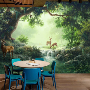 QUIET FOREST MOMENT Wall Mural - WallpaperUniversity