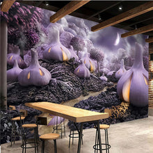 Load image into Gallery viewer, Custom Mural Wallpaper 3D Hand-painted Fantasy Purple Vegetables TV Background  Decoration Painting Modern Living Room Wallpaper - WallpaperUniversity