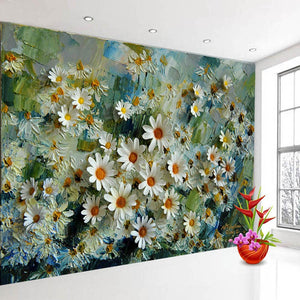 Custom 3D Photo Wallpaper Murals Floral Stereoscopic Oil Painting Living Room TV Backdrop Wall Papers Home Decor Prints Wall Art - WallpaperUniversity