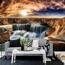 Load image into Gallery viewer, Custom 3D Wallpaper Walls Rock Waterfall Living Room Sofa Background Wall Decor Nature Landscape Photo Mural Papel De Parede 3D - WallpaperUniversity