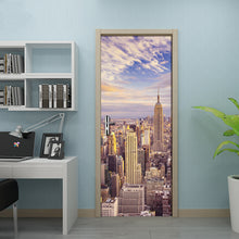 Load image into Gallery viewer, City Building Photo Mural Door Sticker Modern Living Room Bedroom Door Decoration 3D Wallpaper PVC Self-adhesive Papel De Parede - WallpaperUniversity