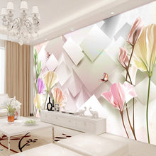 Load image into Gallery viewer, Custom Mural Wallpaper Modern Fashion 3D Stereoscopic Tulip Flower Mural Living Room Bedroom TV Background Wall Painting Paper - WallpaperUniversity