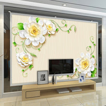 Load image into Gallery viewer, Custom Any Size 3D Stereo Relief Flower Large Mural Wallpaper Living Room TV Background Decoration Wall Painting Wall Covering - WallpaperUniversity
