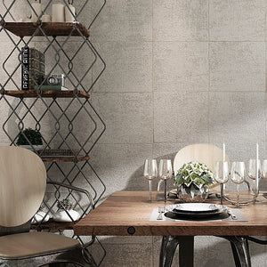 CEMENT INDUSTRIAL BLOCK Wallpaper Wall Covering - WallpaperUniversity