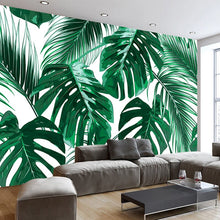 Load image into Gallery viewer, Custom Photo Wallpaper Murals 3D Modern Hand Painted Tropical Rainforest Banana Leaves Pastoral Wall Painting Mural De Parede 3D - WallpaperUniversity