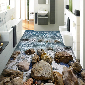 WHITEWATER Floor Mural - WallpaperUniversity
