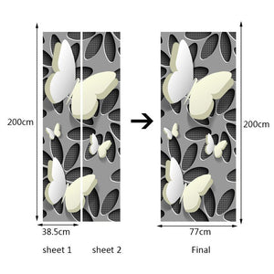Modern Simple Abstract Stereoscopic Butterfly Living Room Bedroom Door Mural PVC Waterproof Self-adhesive Wallpaper Sticker 3D - WallpaperUniversity