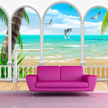 Load image into Gallery viewer, Custom Mural Wallpaper Photo Seaview Roman Column Wall Decorations Living Room Bedroom Sofa TV Background Wallpaper Modern 3D - WallpaperUniversity