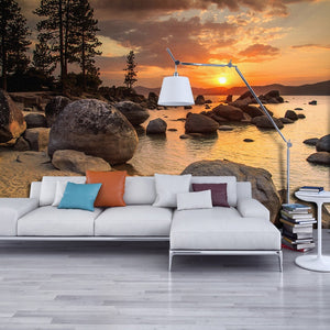 High Quality 3D Mural Custom Wallpaper HD Dusk Beach View Wall Papers Home Decor Wall Decals Living Room Bedroom Backdrop Murals - WallpaperUniversity