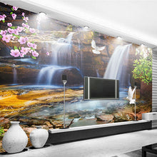 Load image into Gallery viewer, Custom 3D Wallpaper For Walls Roll Waterfall Running Water Natural Landscape Large Mural 3D Photo Wallpaper Livingroom Bedroom - WallpaperUniversity