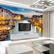 Load image into Gallery viewer, Custom Photo Wallpaper 3D Wall Murals Wallpaper For Living Room Bedroom Background Walls 3D Home Decor Wallpaper In Venice City - WallpaperUniversity