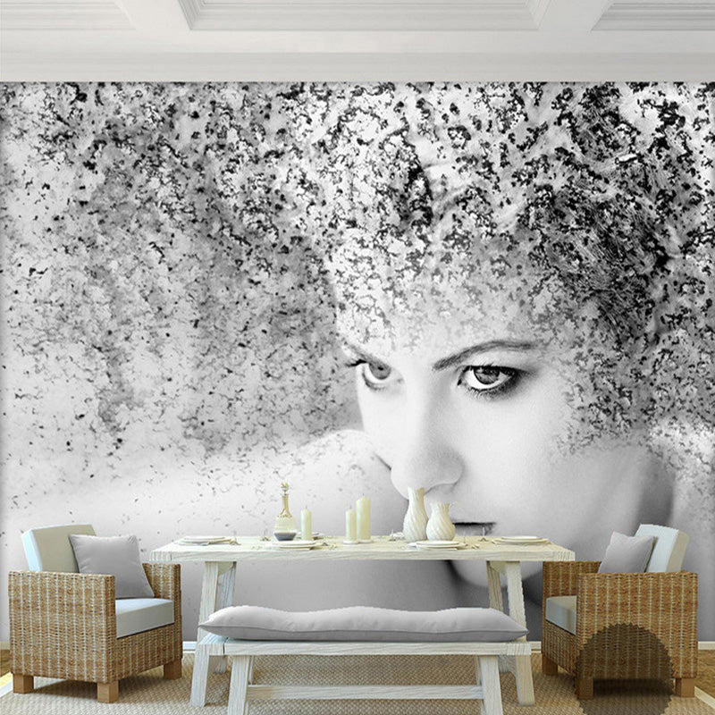 Custom Photo Wallpaper Modern Fashion Black White Abstract Art Beauty People Background Mural Wallpaper For Bedroom Walls 3D - WallpaperUniversity