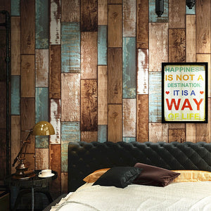 RUSTIC WOOD DISTRESSED PAINT Wallpaper Wall Covering - WallpaperUniversity