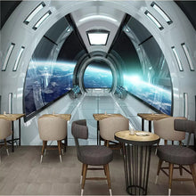 Load image into Gallery viewer, Custom Size Modern 3D Character Universe Space Capsule Mural Home Decor Mural Art Living Room TV Background 3D Wall Paper Roll - WallpaperUniversity