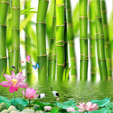 Load image into Gallery viewer, Custom 3D Photo Wallpaper For Walls 3 D Lotus Flower Bamboo Forest Wall Painting Living Room Bedroom Mural Wallpaper Home Decor - WallpaperUniversity