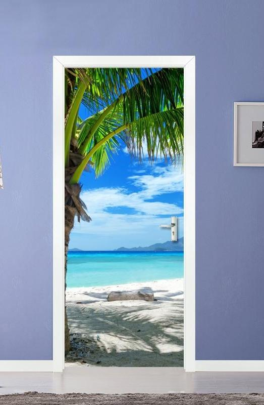 TROPICAL BEACH Door Mural - WallpaperUniversity