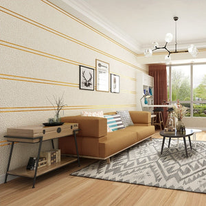 SUEDE STRIPES MODERN Wallpaper Wall Covering - WallpaperUniversity