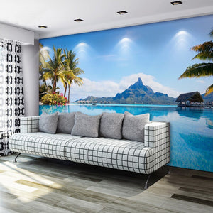 Custom Photo Mural Wallpaper 3D Mediterranean Nature Landscape Large Wall Painting Living Room Sofa Bedroom Background Wallpaper - WallpaperUniversity