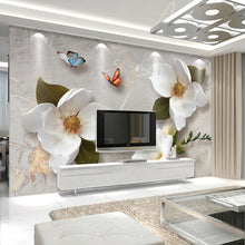 Load image into Gallery viewer, Custom 3D Wall Murals Wallpaper European Style Retro Flower Butterfly Desktop Wallpaper For Living Room TV Backdrop Wall Mural - WallpaperUniversity